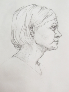 Portrait Study in Pencil 1