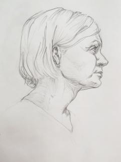 Portrait Study in Pencil 1
