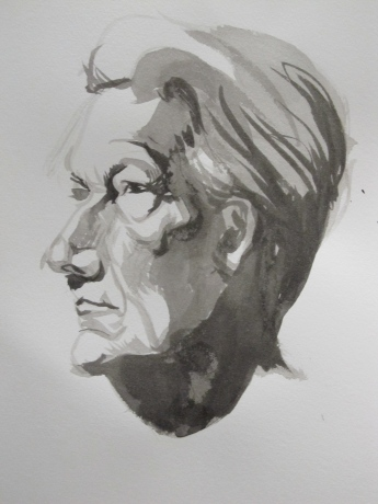portrait study in Ink 2012